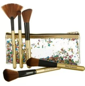 👑 Juicy Couture Brush Set with Bag NEW